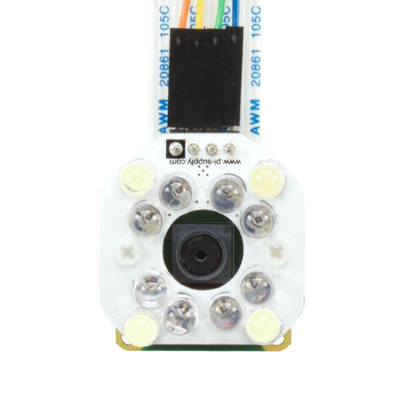 Eclairage en lumière blanche et IR pour caméra Pi