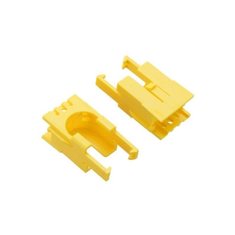 2x Romi motor-holding clips - Yellow