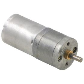 Motor 6V 9.7:1 - 4mm D Axis - 25D - metal gearing