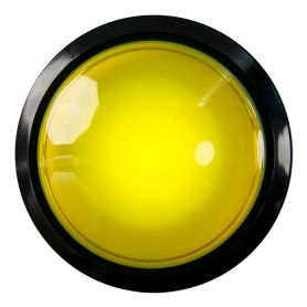 EXTRA Large Arcade Button - YELLOW led - 100mm