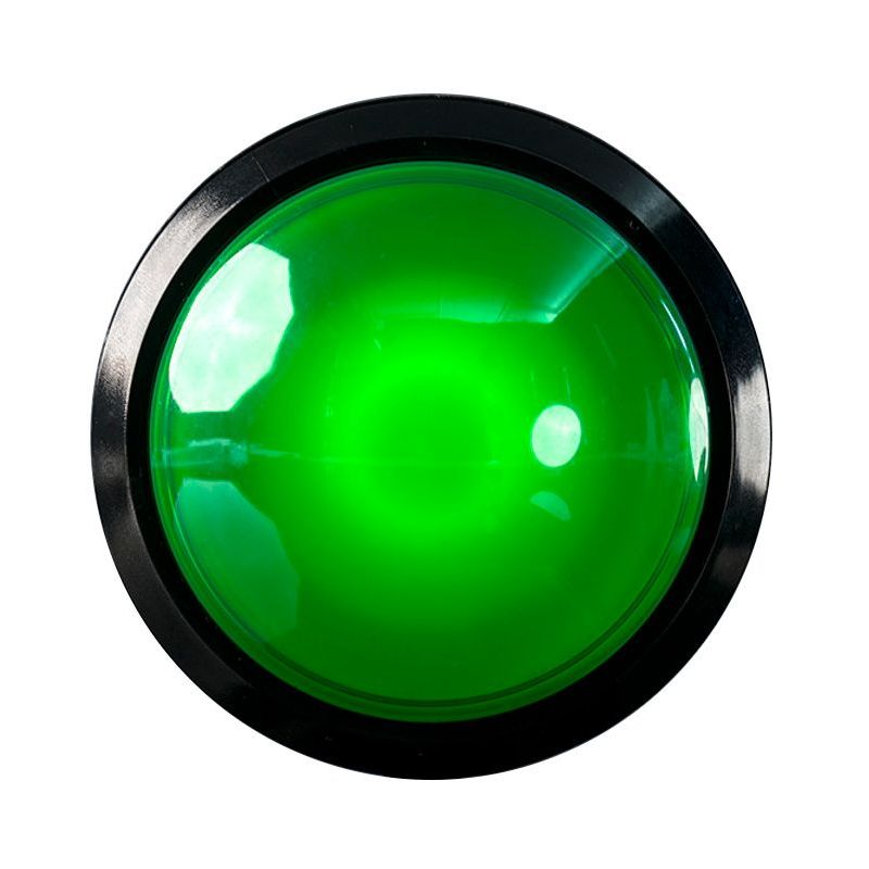 EXTRA Large Arcade Button - Green LED - 100mm