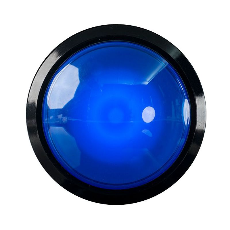EXTRA Large Arcade Button - Blue LED - 100mm