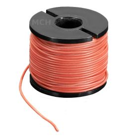 15m fil multi-brin ROUGE, 30 AWG, Silicone