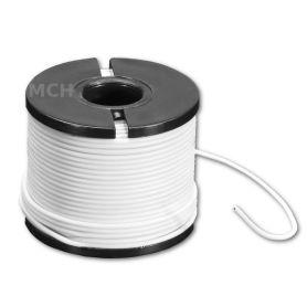 15m multi-core WHITE wire, 30 AWG, Silicon