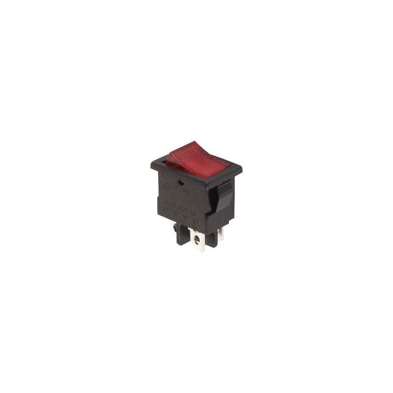 Rocker ROUGE ON/OFF - 250V 3A - Témoin rouge