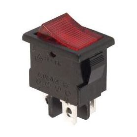 ON/OFF RED Rocker switch - 250V 3A - red light