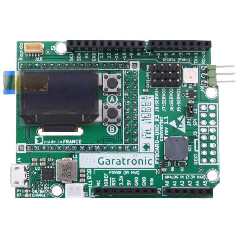 Adaptateur Pyboard vers UNO-R3 + Extra