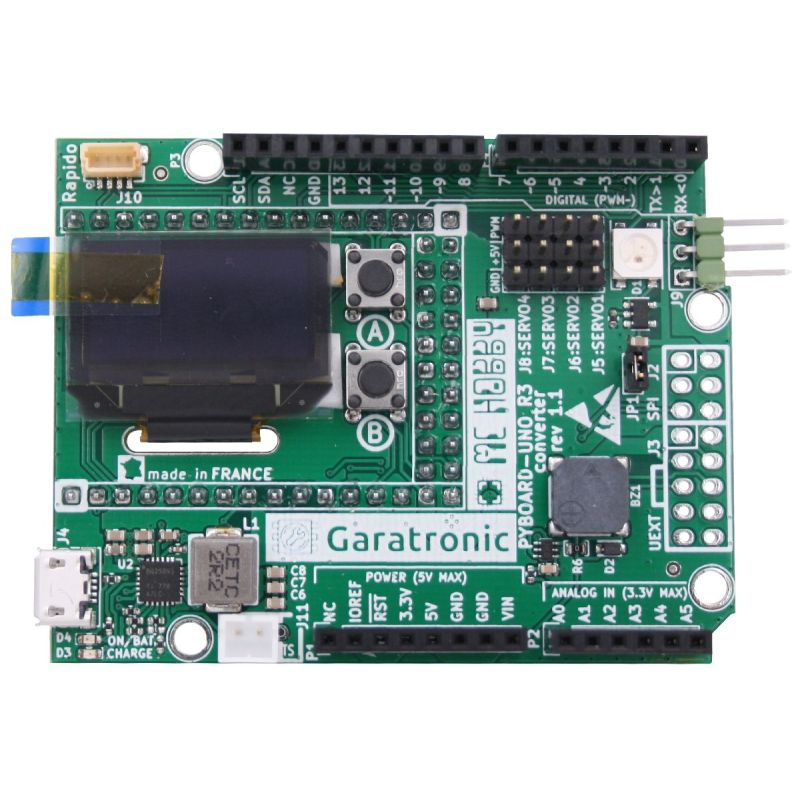 Pyboard to UNO-R3 adapter + Extra