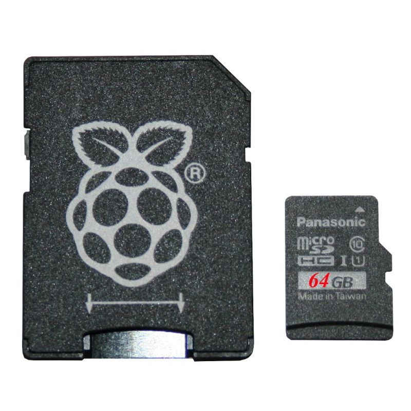 Noobs Pi 4 - 64 Go microSD card - Panasonic