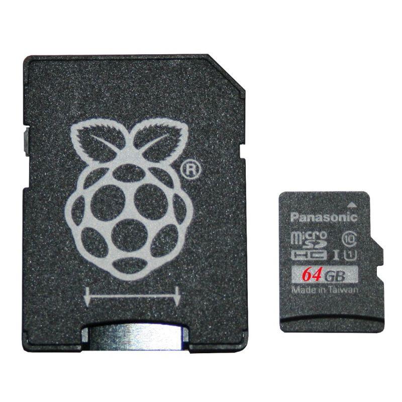 Noobs Pi 4 - microSD 64Go - Panasonic