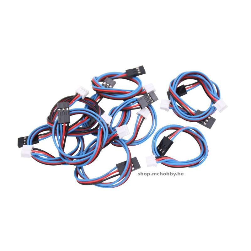 Gravity: Analog Sensor Cable for Arduino (10 Pack)