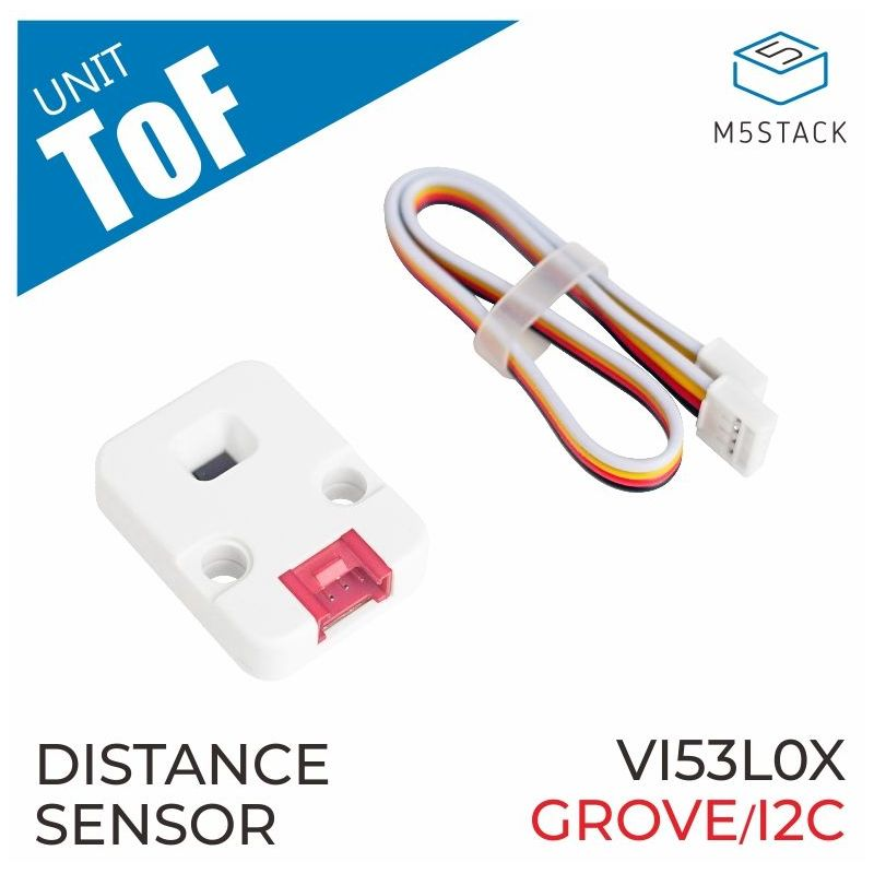 M5Stack: VL53L0X Time of fly ranging unit, Grove
