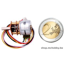 Micro Stepper with Micro Metal Gearbox 100:1 - 12V, 2000 Step