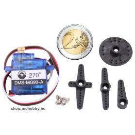 Micro Servo MG90, 270° Metal, Feedback analogique