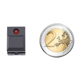 Digitast push button BLACK - LED RED