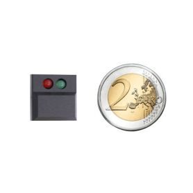 Digitast push button BLACK - LEDs GREEN / RED