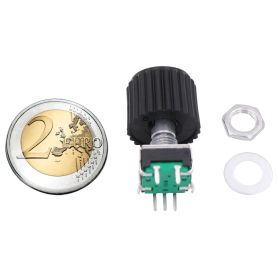 Rotary Encoder 24 PPR detent-less + switch + extra