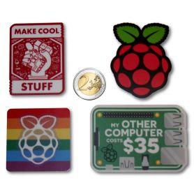 4x AutoCollants Raspberry-Pi