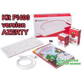 Raspberry Pi 400 KIT - Azerty / Livret US - 4 Go