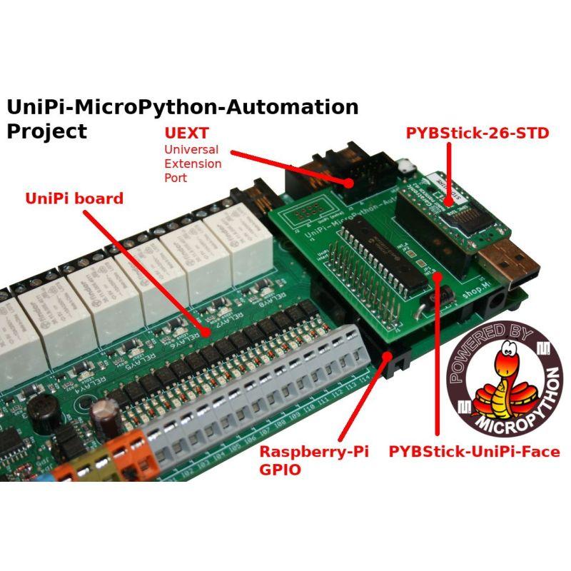 UniPi (pro & lite) interface for PYBStick