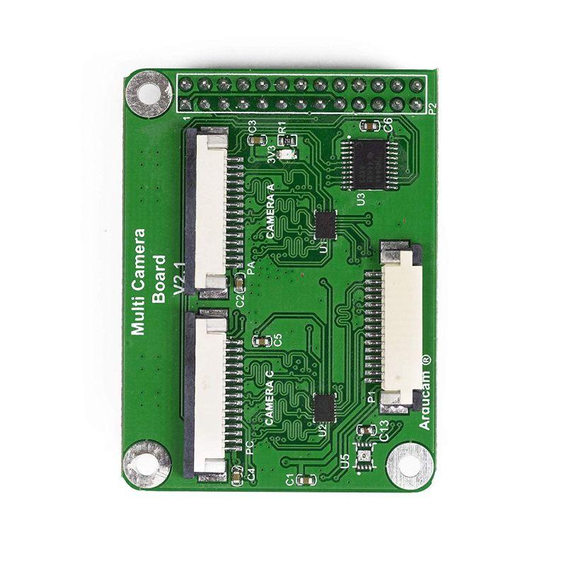 Multi-camera adapter for Raspberry-Pi V2.2