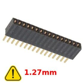Female connector 1x16 pins, 1.27mm spacing