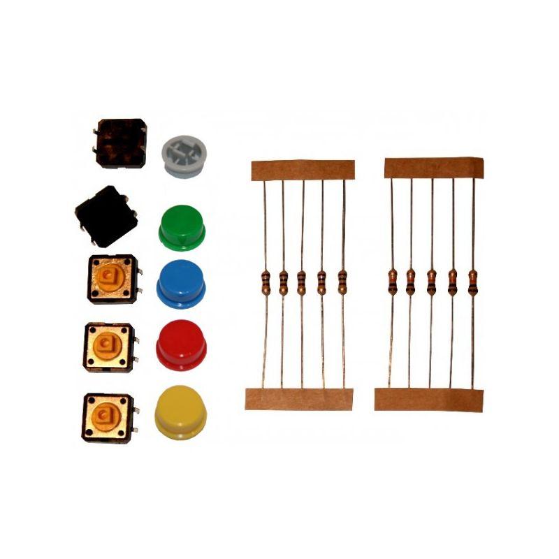 Bouton tactile Couleur ROND (mini kit)