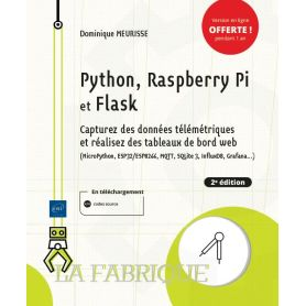 Book: Python, Raspberry Pi and Flask - Capture telemetric data and create WEB dashboard