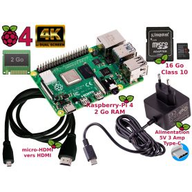 Raspberry Pi 4 2Go Essentiel Pack (Pi 4 inclus)