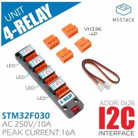 M5Stack: 4 relays module I2C, Grove