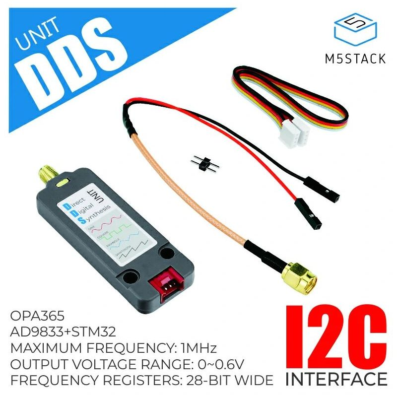 M5Stack: DDS signal generator (STM32F0 + AD9833), Grove
