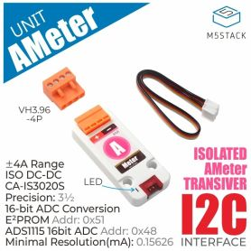 M5Stack: Ampèremètre – mesure de courant +/-4A (ADS1115), Grove
