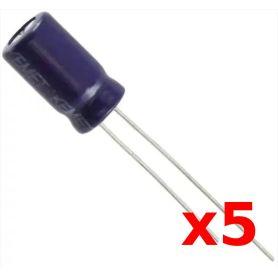 5 x Condensateur 100uF - Electrolytique - 25V