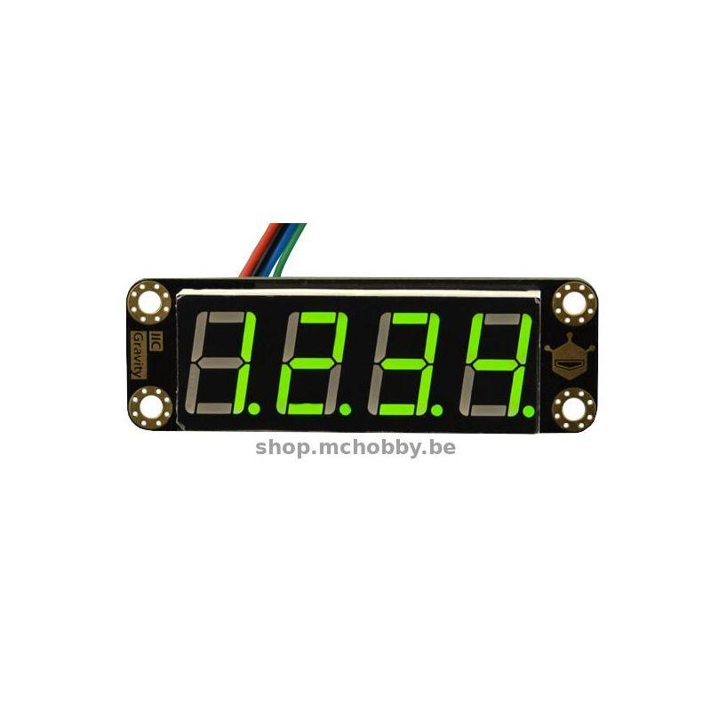 Afficheur I2C VERT 4 chiffres de 7 seg. - 22,0mm