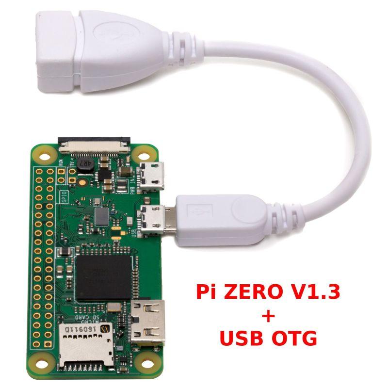 Kit Raspberry-Pi ZERO V1.3 + USB (No WiFi)