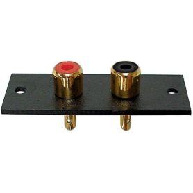 Connecteur Audio Stéréo RCA (doré) - Montage en panneau
