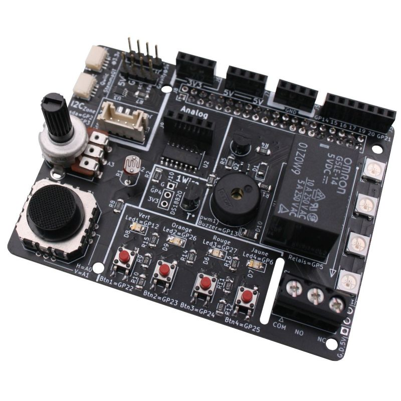 Ludik-Hat - un HAT pour découvrir l'électronique et la programmation sur Raspberry-Pi