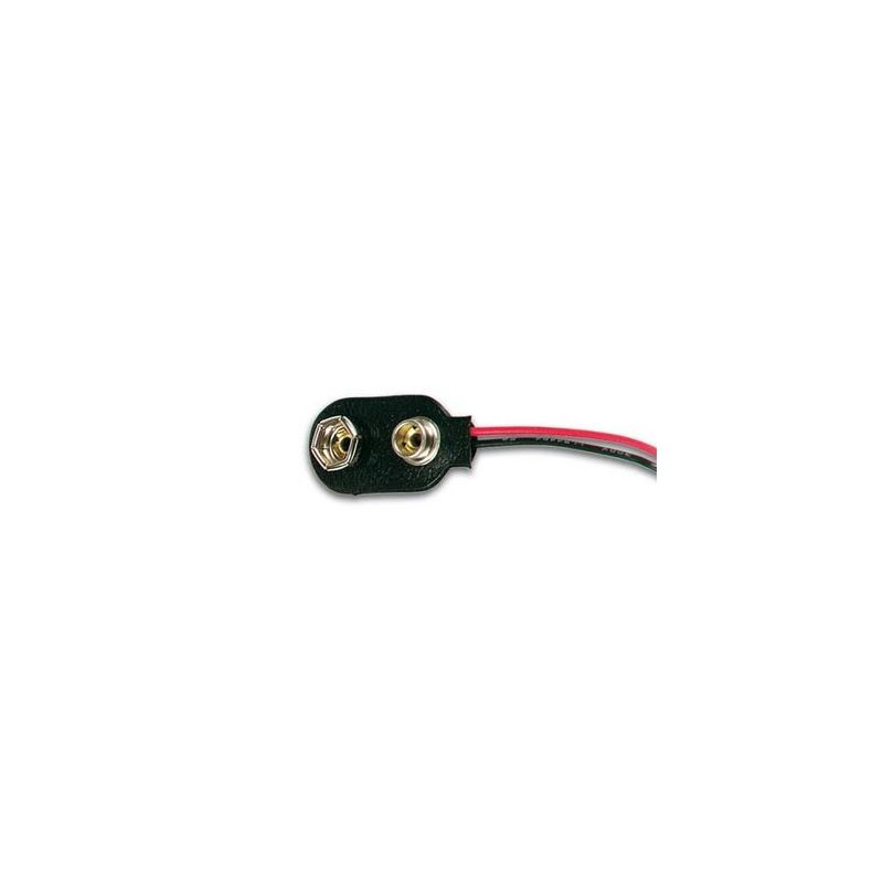 9V battery / pressure contact adapter