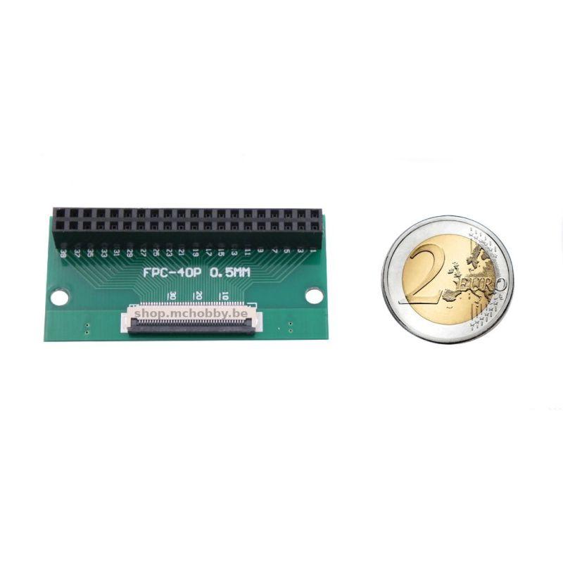 Connecteur IDC 2x20 Femelle vers ruban FPC 40 à 0.5mm