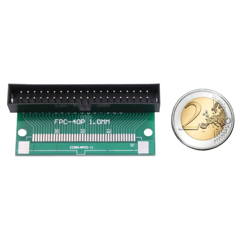 IDC 2x20 Male to FPC 40 pins ribbon - 0.5mm spacing