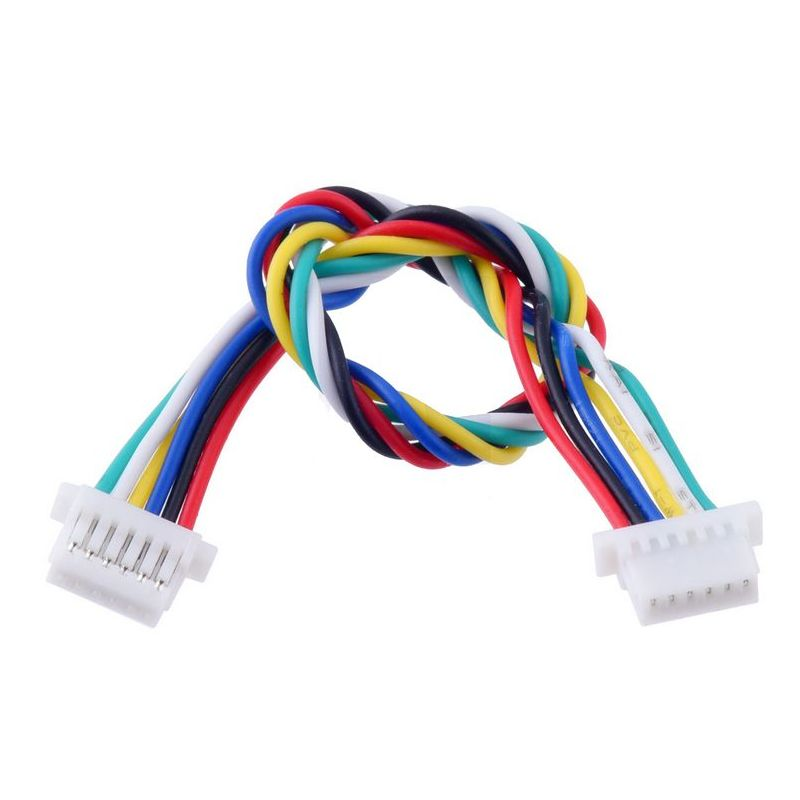 6 pins JST-SH cable 100mm - Female / Female