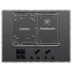 Support Plexi pour Arduino et breadboard