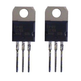 2 Transistors TIP102 Darlington NPN 8A 100 Vdc