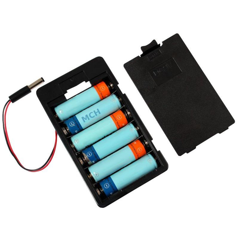 Bloc d'alimentation 6 piles AA (1.5v-Total 9v) pour Arduino