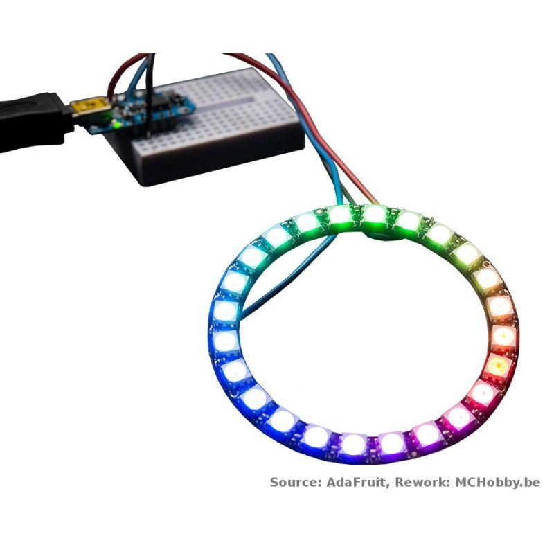 ▷ NeoPixel Ring - 24 LEDs RGB - MCHobby - Vente de