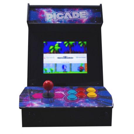 Borne d'arcade PiCade avec écran et structure pour réalisation rapide d'une borne d'arcade totalement fonctionnelle