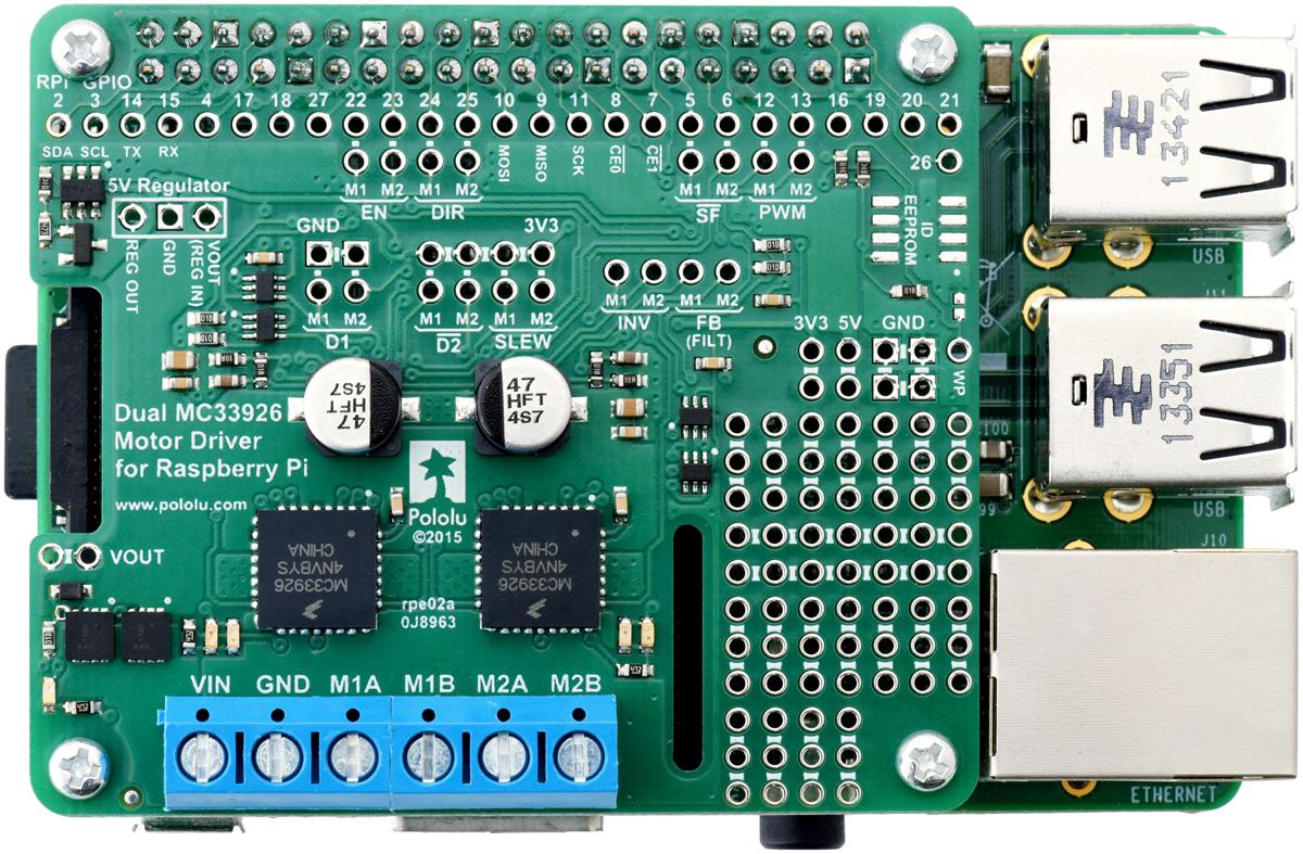 Controleur moteur MC33926 pour Raspberry-Pi