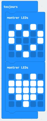 Application MicroBit - coeur qui bat