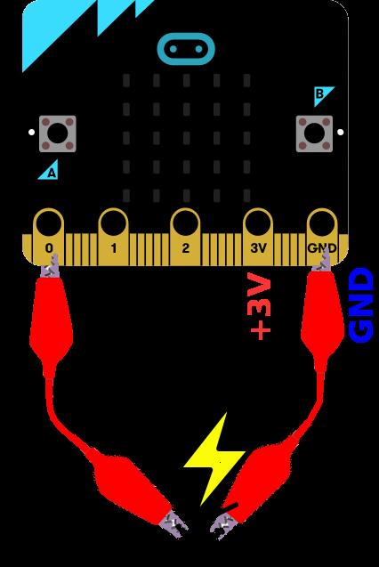 Micro:bit utiliser les connecteurs faciles d'accès (P0, P1, P2)