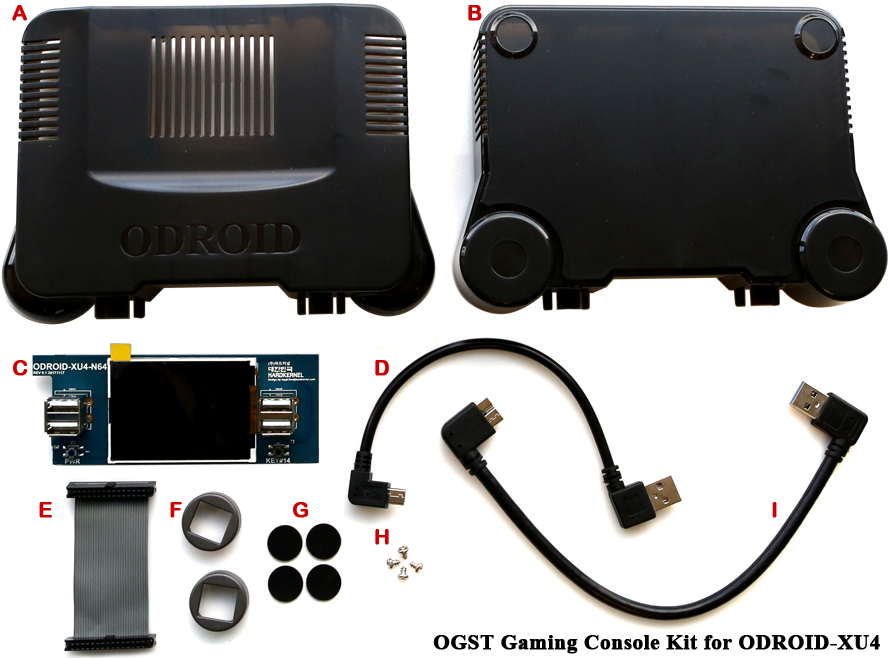 Elements du kit OGST pour ODroid-X4